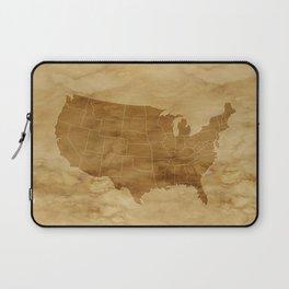 United States USA Vintage Map Laptop Sleeve