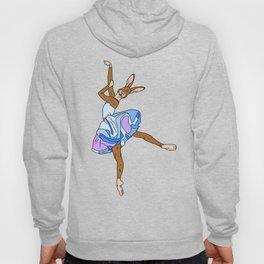 Bunny Rabbit Ballerina - Teal Blue Hoody