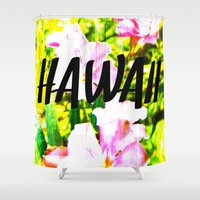 hawaii Shower Curtains featuring Hawaii by mattholleydesign