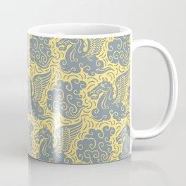 Pegasus Pattern Grey and Yellow Coffee Mug