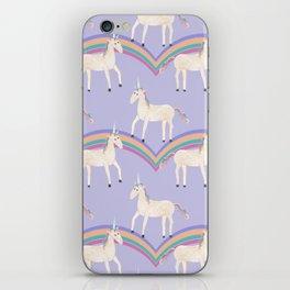 Unicorn Pattern on Pastel Purple iPhone Skin