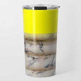 Greek Yellow Marble Travel Mug