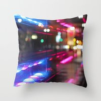 montreal Throw Pillows featuring MONTREAL by Véronique Leduc