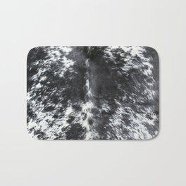 Black and white cowhide Bath Mat