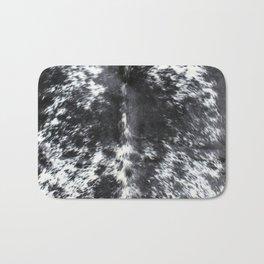 Black and white cowhide Bath Mat