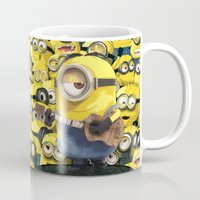 minions Mugs featuring MINIONS by DisPrints