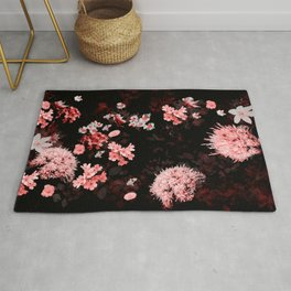 Flower magic pink Rug