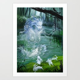 River Ghost Art Print