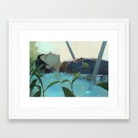 snk Framed Art Prints featuring The dreamer (Levi, SnK) by sushishishi