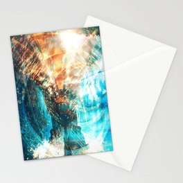 Shining Spirals Stationery Cards