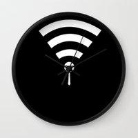 quibe Wall Clocks featuring Minimal Professor X by quibe