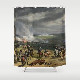 Classical Masterpiece: the Battle of Vernet Valmy by Emile Jean Horace Shower Curtain