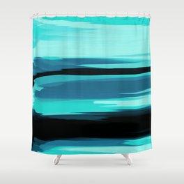 Soft Determination Aquamarine Shower Curtain