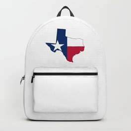 Texas Map Outline and Flag Backpack