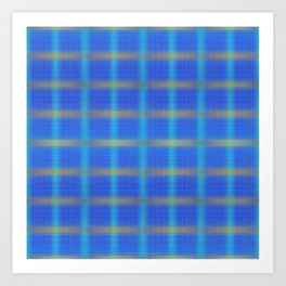 Glow Little Plaid Art Print