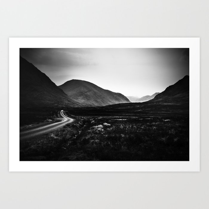 Into Glen Etive Art Print