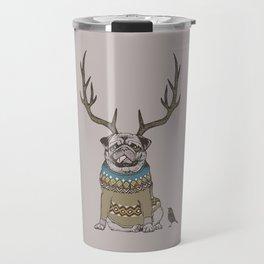 Deer Pug Travel Mug