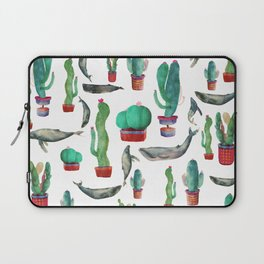 Cactus & whales Pattern Laptop Sleeve