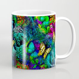 GIRAFFE BUTTERFLY AND BIRD Coffee Mug