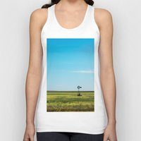 kansas Tank Tops featuring Kansas Skyline by Marie Apel