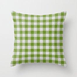 Olive Drab Buffalo Plaid Throw Pillow