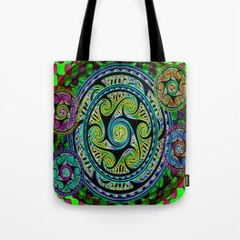 Variated Spheres #1 Psychedelic Celtic Design Tote Bag