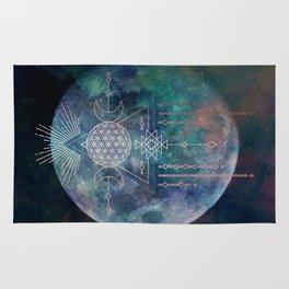 Lunar Goddess Mandala Rug