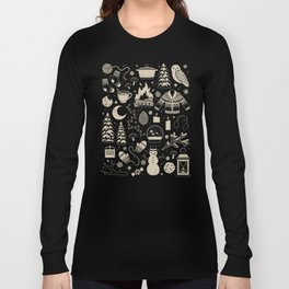 Winter Nights: Forest Long Sleeve T-shirt