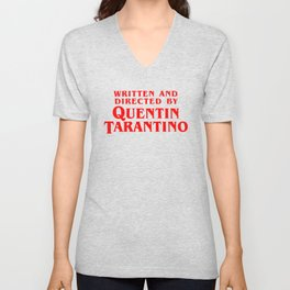 Written and directed by QUENTIN TARANTINO - RED Unisex V-Neck