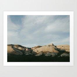 Mormon Rocks Art Print