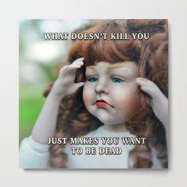 Death Wish Metal Print