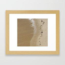 Footprints Along the Shore Framed Art Print