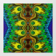 Fractal - My Mother's Dress Mirrored Canvas Print