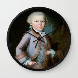 Wolfgang Amadeus Mozart (1756 -1791) by Barbara Krafft (1819) Wall Clock