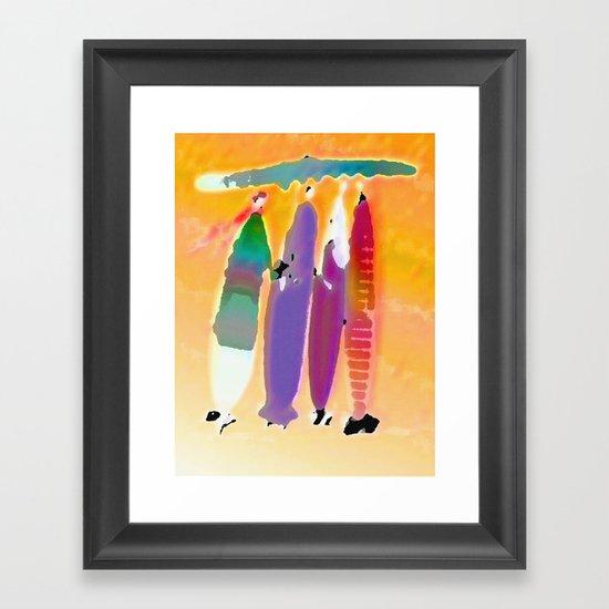 under one umbrella Framed Art Print