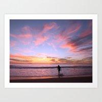 Pink Horizon Art Print