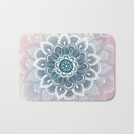Winter Fountain Mandala Bath Mat