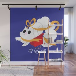 Best gift for a cat - a box! Wall Mural