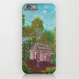 African American Masterpiece 'A Morning Packed with Delights' landscape iPhone Case