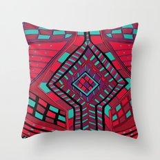 Knitting Red Knitwear Throw Pillow