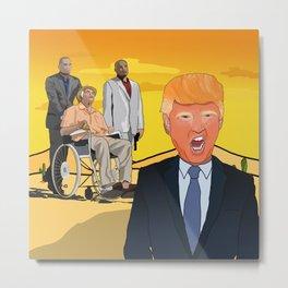 Trump X Breaking Bad Metal Print