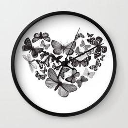BUTTERFLY LOVE MONO Wall Clock