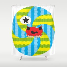 Star Spiral Shower Curtain