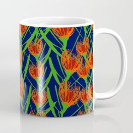 Australian Native Floral Pattern - Pincushion Flowers Coffee Mug