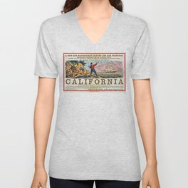 A New and Magnificent Clipper for San Francisco. Merchant's Express Line of Clipper Ships! Unisex V-Neck
