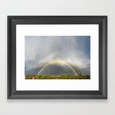 Rainbow Panorama Framed Art Print