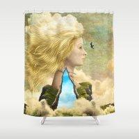 aurora Shower Curtains featuring Aurora by Diogo Verissimo