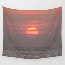 Pink sunset. Wall Tapestry
