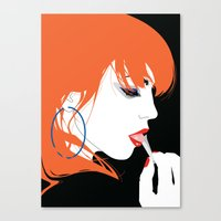 jenna kutcher Canvas Prints featuring JENNA by We Are Robotic