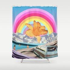 Summer Rainbow Shower Curtain